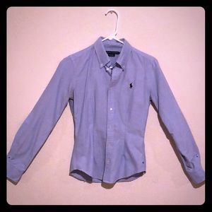 Ralph Lauren Blue Oxford Button Down Shirt Polo
